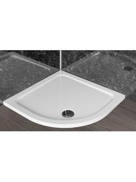 Diamond 35mm Quadrant Stone Slimline White 800 x 800 Shower Tray & Chrome Fast Flow Waste - DWQ8080